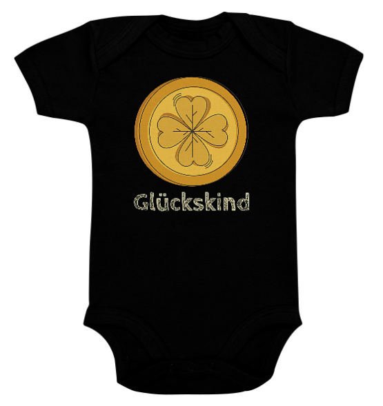 Glückskind Gold – Baby Body Strampler
