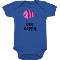 bee happy – Baby Body Strampler