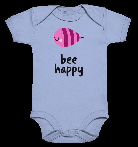 bee happy – Baby Body Strampler