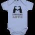 Pinguine love – Baby Body Strampler