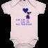 Blau blau blau – Baby Body Strampler