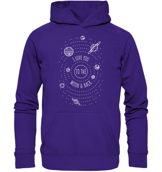 I love you to the moon and back – Kinder Hoodie