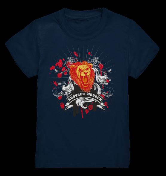 Großer Bruder Löwe – Kinder T-Shirt